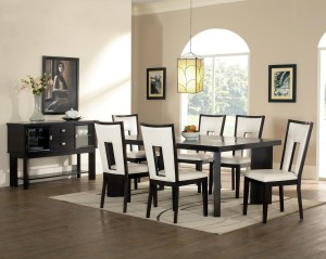 artistic-modern-dining-room-with-unique-chairs-set-and-rectangle-pendant-lamp-mixed-with-round-peaked-window